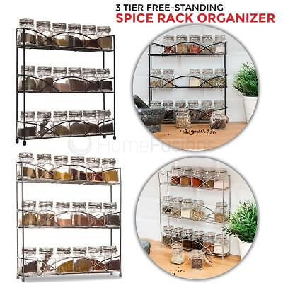 3 Tier Free Standing Countertop Herb Spice Rack Holder Storage Organiser Kitchen