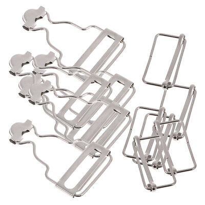 Set of 6 Sliver Dungaree Fasteners Overall Clips Brace Buckles Adjuster 38mm
