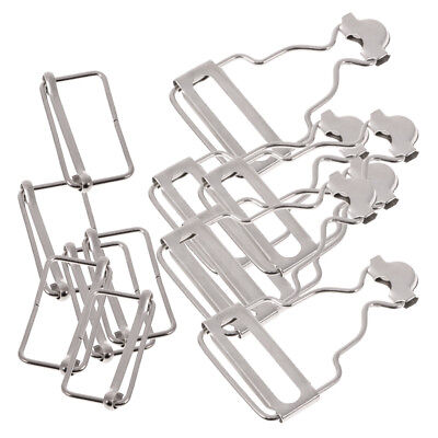 Set of 6 Sliver Dungaree Fasteners Overall Clips Brace Buckles Adjuster 32mm