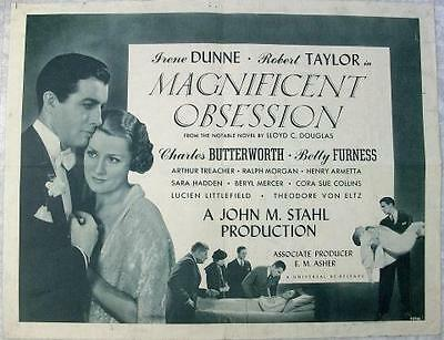 Robert Taylor Irene Dunne Magnificent Obsession Original U.s. Half Sheet Poster