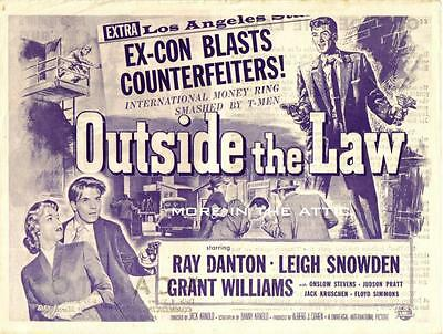 Ray Danton Is Outside The Law Original Universal Pictures U.s. Herald