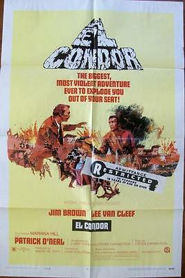 Lee Van Cleef Jim Brown El Condor Spaghetti Western Style A U.s. One Sheet