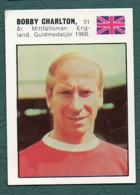 Bobby Charlton 1970 Manchester United William Forlags Vm-Affischen #29 World Cup