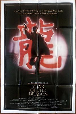 Mickey Rourke The Year Of The Dragon Orig Cimino Us One Sheet Poster