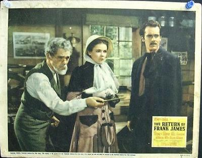 Fritz Lang Henry Fonda Hull Gene Tierney Return Of Frank James Orig Western Lc