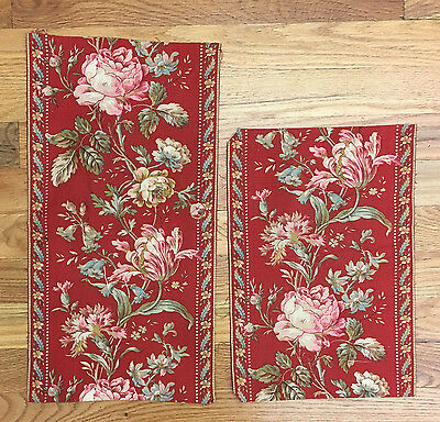 Antique 19th Century  Beautiful French Printed Cotton Borders (2046)