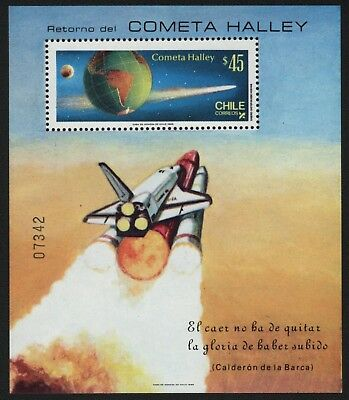 Chile 1985 - Mi-Nr. Block 1 A ** - MNH - Raumfahrt / Space