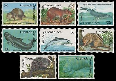 Grenada-Grenadinen 1990 - Mi-Nr. 1267-1274 ** - MNH - Wildtiere / Wild animals