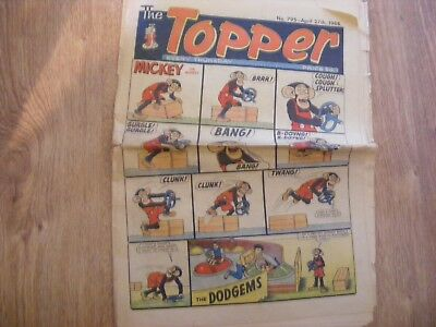 1968 The Topper Comic No 795 dated April 27th 1968 - in ok condition