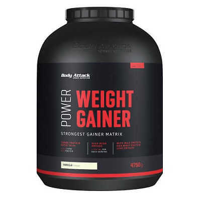 Body Attack Power Weight Gainer 9,24€/kg 4750g Dose Kohlenhydrate 4,75kg Mass