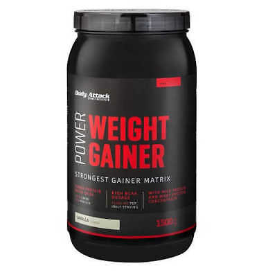 Body Attack Power Weight Gainer 13,93€/kg 1500g Dose Kohlenhydrate 1,5kg Mass