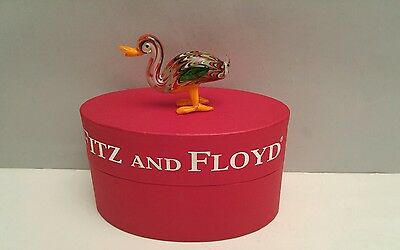 Fitz and Floyd Glass Duck Menagerie Figurine Ashley New in the Box Limited