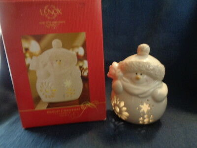 Lenox Bright Christmas Votive Snowman Tealight Tea light