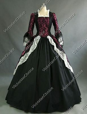 Renaissance Victorian Christmas Carol Party Dress Princess Gown Theater 164 L