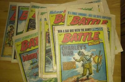 Battle comic collection 19 x issues 1981 - 82 - Charley's War - Johnny Red WW2