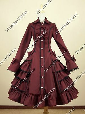 Victorian Lolita Jacket Coat Dress Steampunk Vampire Halloween Costume C019 XXL