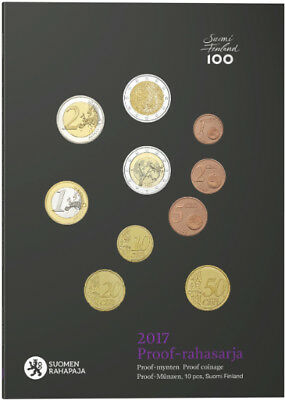 Finnland 2017 Kursmünzensatz in Proof, KMS 2017 Rahasarja 3 x 2 Euro Proof