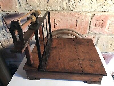 MINIATURE ANTIQUE platform grain SCALE salesman sample masterpiece farm country