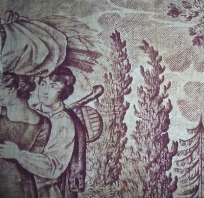 BEAUTIFUL FRAGMENT EARLY 19th CENTURY FRENCH TOILE DE JOUY, REF, PROJECTS
