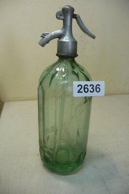 2636. Alte Sodaflasche  Siphonflasche 1 l Old soda siphon seltzer