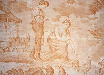 BEAUTIFUL EARLY 19th CENTURY FRENCH TOILE DE JOUY, REF, PROJECTS