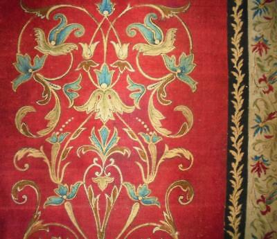 BEAUTIFUL FRAGMENT 19th CENTURY FRENCH BLOCK PRINT SILK, REF PROJECTS
