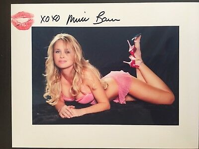 Michelle Baena Playboy Covermodel Sexy 8X10 Photo Signed To You & Kiss Print