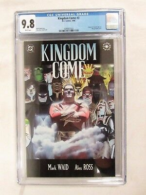 Kingdom Come #3 (1996) CGC 9.8 White Pages Return of Captain Marvel DC EH91