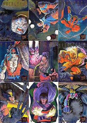 X-Men 1995 Fleer Ultra Hunters & Stalkers Complete Insert Card Set 1 To 9 Ma