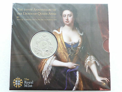 2014 Royal Mint Queen Anne 300th Anniversary £5 Five Pound Coin Pack Mint Sealed