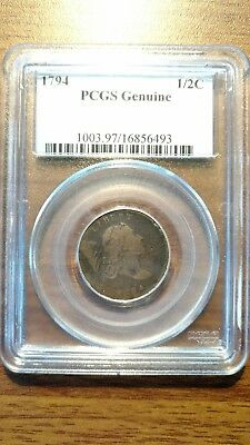 1794 Liberty Cap Half Cent PCGS GENUINE