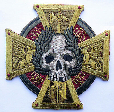 Celtic Cross Skull Embroidered Infidel Crusader Morale Hook Patch Miltac