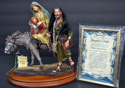 Vintage 1994 Italy ANGELA TRIPI Roman Nativity FLIGHT INTO EGYPT 9'' Statue