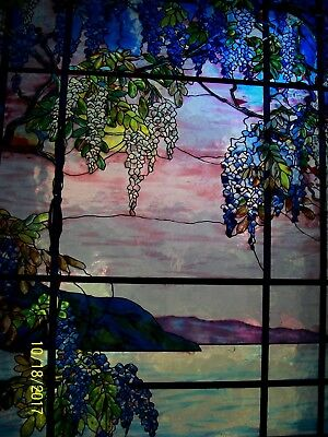 MMA Tiffany Stained Glass Window Suncatcher View Of Oyster Bay