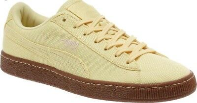 9b585c683ca NWOB PUMA BASKET Ripstop Lace Up Mens Yellow Textile Trainers 362340 ...