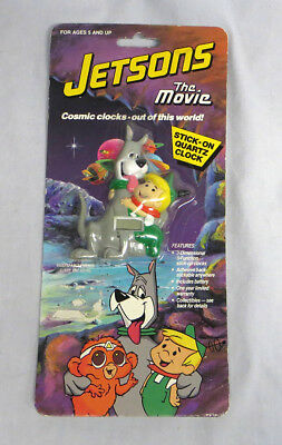 Rare Jetsons The Movie Cosmic Clocks Stick on Quartz Clock ©1990 NIP
