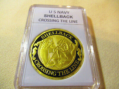 US NAVY - SHELLBACK - CROSSING THE LINE Challenge Coin