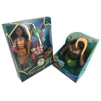 New Moana Maui Action Figures Musical Doll Kids Interactive Toys Rare Collection