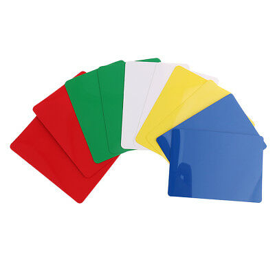 10 Pieces Plastic Poker Size Cut Cards for Poker Blackjack Games Parts