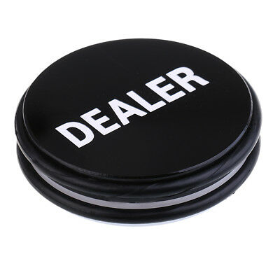Double Sided White/Black Big Dealer Button for Poker Card Casino Game 3inch