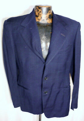 1930s Mens Small Wool Suit Coulter-McGuire -Jacket 3 button - Waldes Kover zip