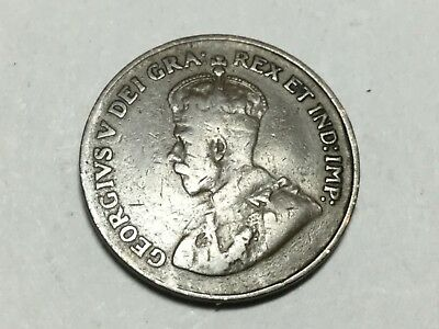 CANADA 1921 1 small Cent coin circulated