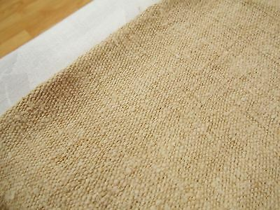 Vtg Antique HEMP LINEN GRAIN BAG SACK Upholstery Fabric COVERLET QUILT 70X51