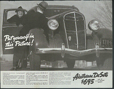 Put yourself in this picture! Airstream De Soto ad 1935