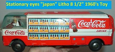 1960's Coca Cola Vintage Toy Coke Truck Frriction JAPAN Tin Litho Old Toy RARE