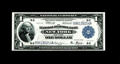 1918 NEW YORK,NY $1 Large Federal Reserve Note ~ UNCIRCULATED