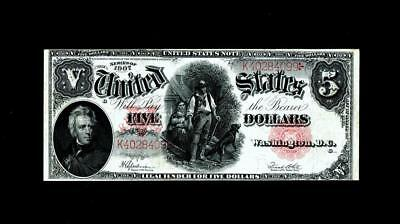 Fr. 91 $5 1907 Legal Tender ~~ Choice About UNCIRCULATED