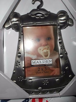 """SILVER Outfit Pewter Juvenile (2"""" x 3"""") Picture Frame FOR GIRLS"""