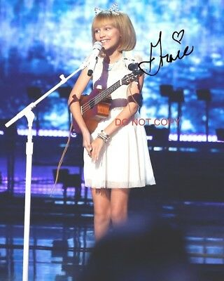 "Grace VanderWaal Reprint Signed 8x10"" Autographed Photo #1 Americas Got Talent"