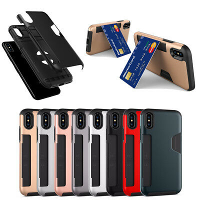 10pcs/lot Blade Credit Card Hybrid Shockproof Case for iPhone 5/6/6S/7/7P/8/8P/X